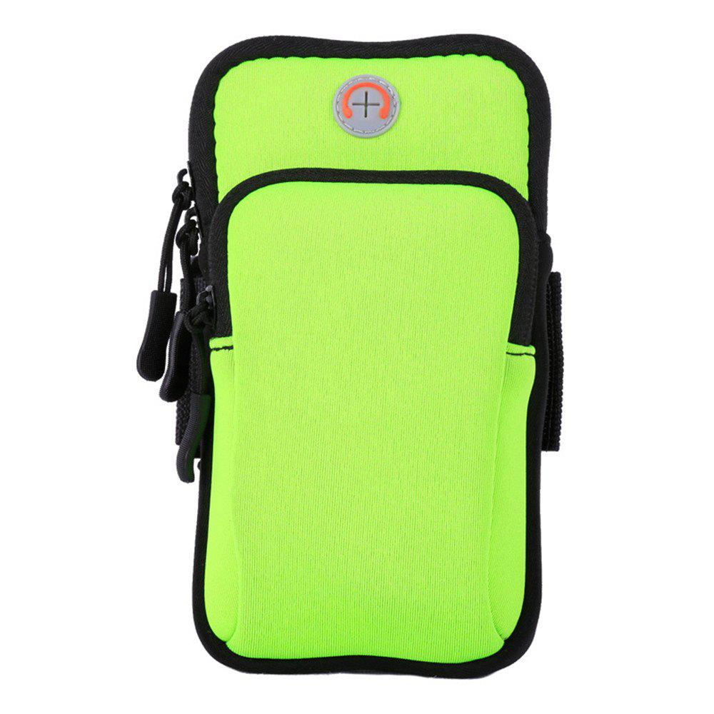 Unisex Outdoor Sports Phone Wrist Portable Bags - GREEN