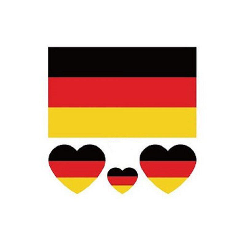 German Flag Football World Cup Body Tattoo Stickers - multicolor