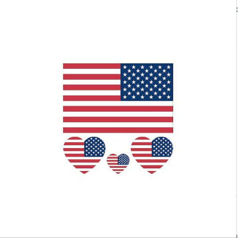 The American Flag Football World Cup Body Tattoo Stickers - multicolor