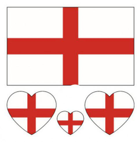 The Football World Cup England Flag Body Tattoo Stickers - multicolor