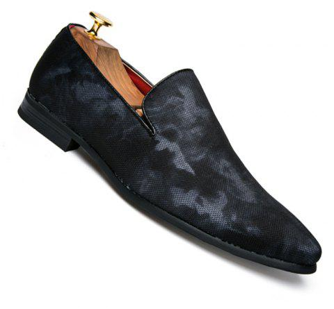 Men Casual Fashion Outdoor Loafers Slip on Shoes - BLUE 38