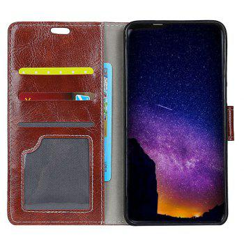 Cover Case For Xiaomi Redmi Note 5A Genuine Quality Retro Style Crazy Horse Pattern Flip PU Leather Wallet Case - BROWN