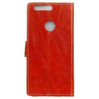 Cover Case For OnePlus 5T Genuine Quality Retro Style Crazy Horse Pattern Flip PU Leather Wallet Case - RED