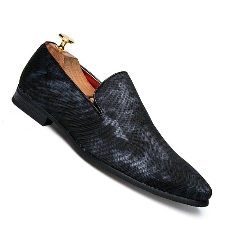 Men Casual Fashion Outdoor Loafers Slip on Shoes - BLUE 42