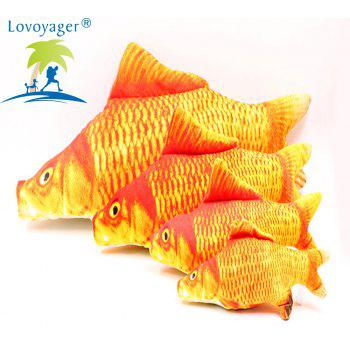 Lovoyager LVC0316 Pet Imitation Plush Toy Fish. - RED XL