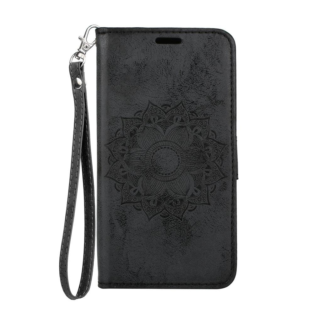 For Samsung Galaxy S9 Case Embossed Mandala Flower Pattern Faux Leather Cover fromthenon 365 notebooks and journals faux leather cover personal daily monthly weekly planner kawaii stationery school supplies