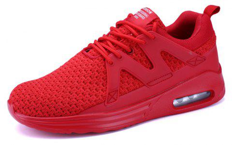 ZEACAVA New Men Runners Mesh respirant Sneakers Chaussures de sport en plein air - Rouge 41