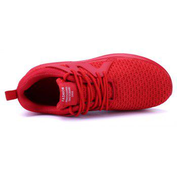 ZEACAVA New Men Runners  Breathable Mesh Sneakers Outdoor Sport Shoes - RED 41