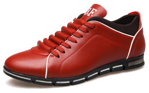 New Casual Fashion Leather for Men Summer Men's Flat Shoes - CHILLI PEPPER 42