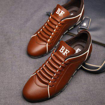 New Casual Fashion Leather for Men Summer Men's Flat Shoes - BROWN 43