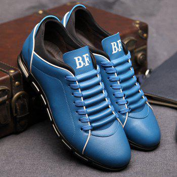 New Casual Fashion Leather for Men Summer Men's Flat Shoes - BLUE 46