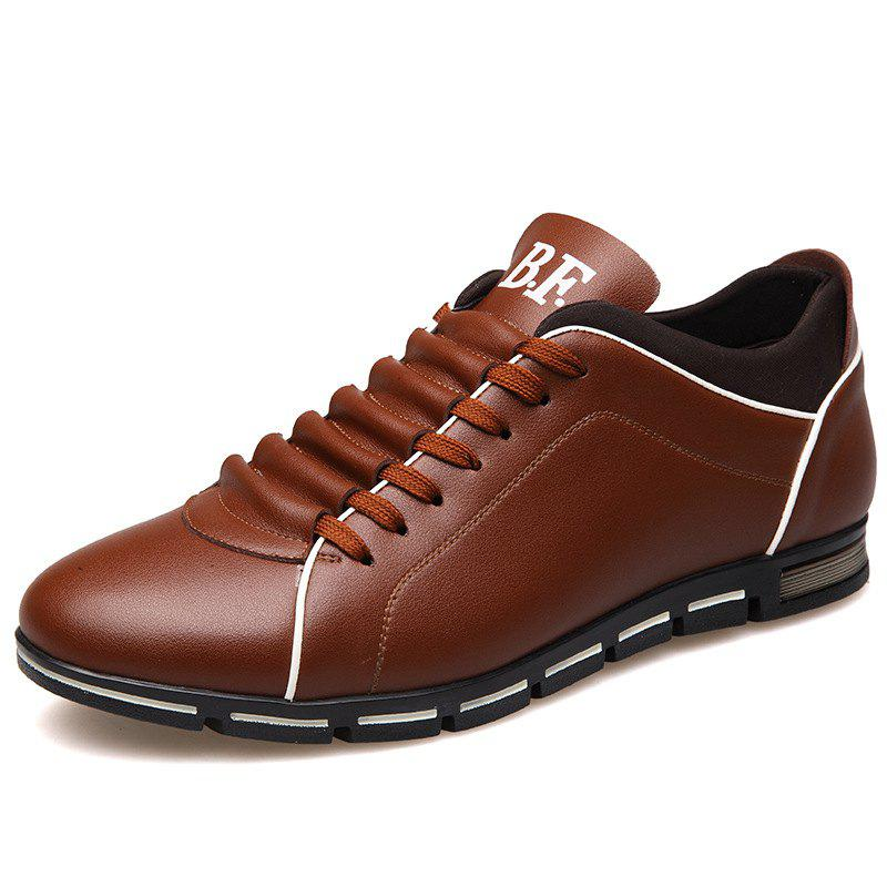 New Casual Fashion Leather for Men Summer Men's Flat Shoes