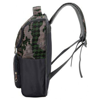 Trendy Camo Unisex Backpack - CAMOUFLAGE GREEN