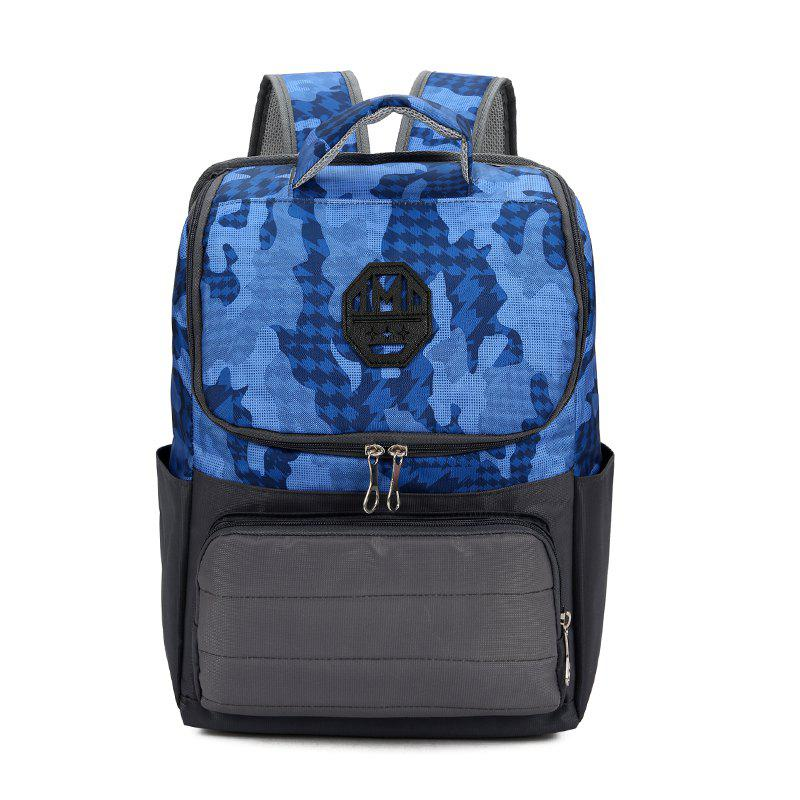 Trendy Camo Unisex Backpack - OCEAN BLUE