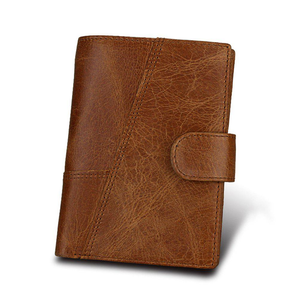 Short Genuine Leather Men Rfid Wallet Cowhide Cover Coin Purse Male Wallets aoeo genuine leather men wallets short coin purse small vintage wallet cowhide leather card holder pocket purse men wallets mini
