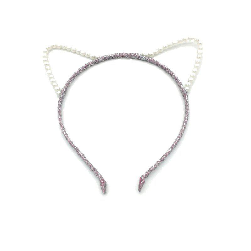 Pearl Cat Ear Hair Hoop Fashion Contracted Headband Hairpin newborn flowers feather pearl headband kids flower lace headband headwrap hair bands hair accessories photography props gift