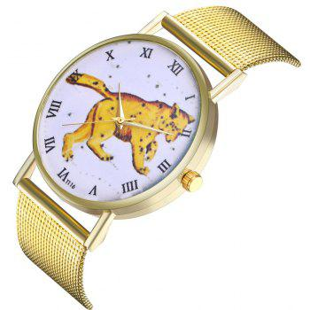 ZhouLianFa T116 Fashion Leopard Pattern Quartz Watch - GOLD