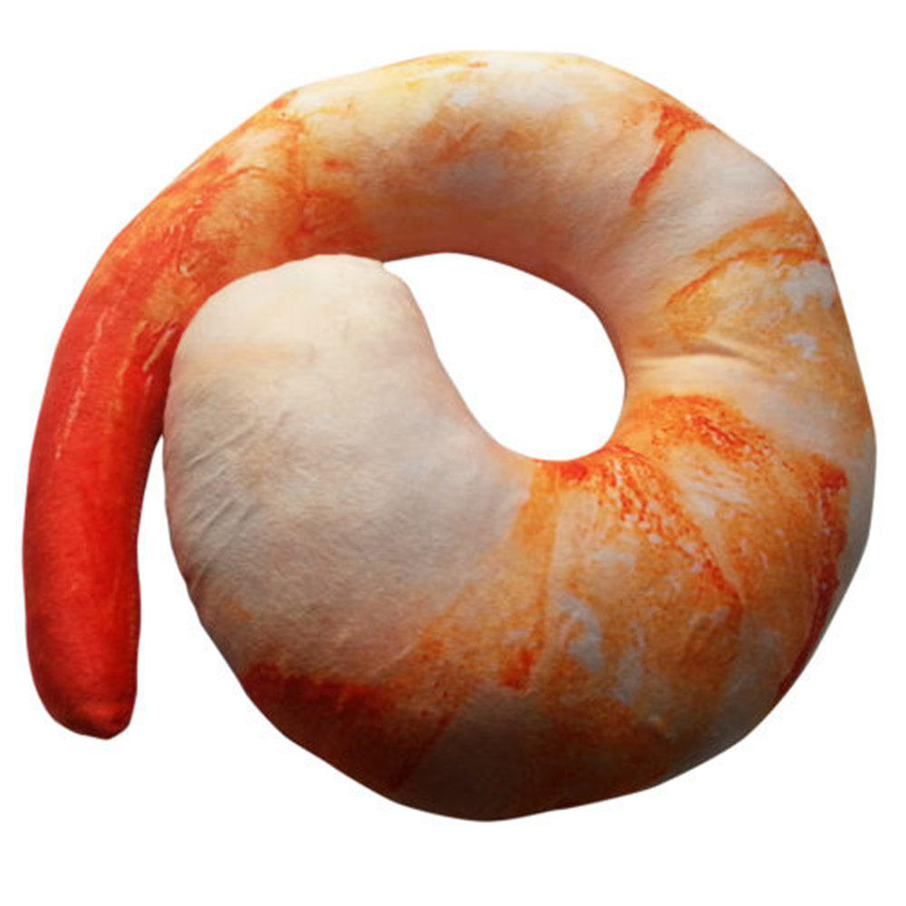 Genuine Creative 3D Shrimp U-shaped Neck Pillow Lunch Break Travel Pillow пенал dakine lunch box 5 l augusta