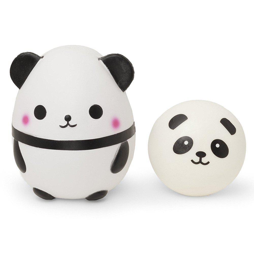 Jumbo Squishy Cute Panda Stress Relief Soft Toy for Kids and Adults 2PCS my cute pets coloring book for adults children relieve stress kill time graffiti painting drawing books livre de coloriage