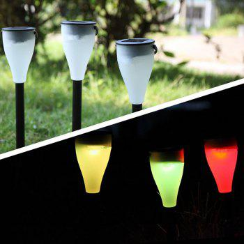 BRELONG LED Solar Outdoor Lawn Light Waterproof Colorful Color Hanging Lamp 6pcs - BLACK