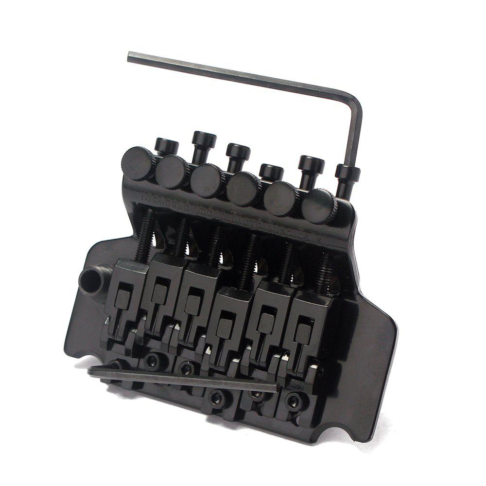 6 Strings Guitar Floyd Rose Tremolo Bridge Double Locking System Musical Instrum - BLACK