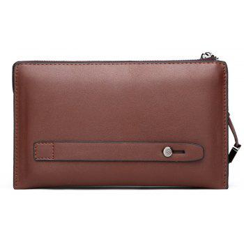 Men's Hand Bag Large Capacity Holding Business Change Hand Clutch Card Package - CHESTNUT