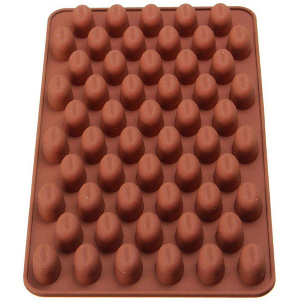 New Mini Coffee Beans Silicone Chocolate Mold Baking Tools 1PCS kitchen tools plastic meat diy mold