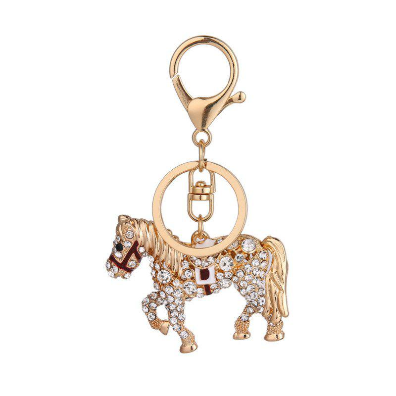 Creative Horse Shape Pendant Ornaments Key Chain fashion girl bag pendant fan shape tassels key chain car ornaments