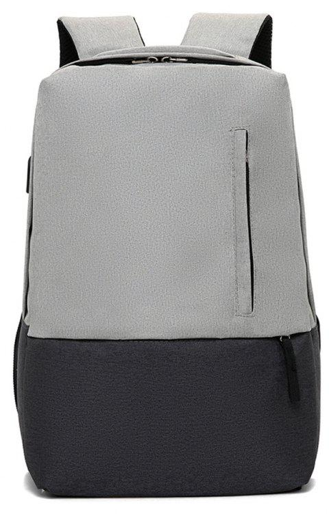 Fashion Small Fresh and Simple Wild Large Capacity Canvas Travel Backpack - ASH GRAY