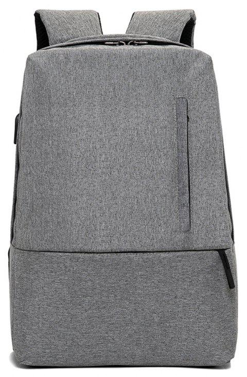 Fashion Small Fresh and Simple Wild Large Capacity Canvas Travel Backpack - GRAY
