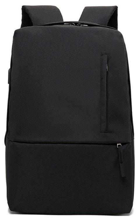 Fashion Small Fresh and Simple Wild Large Capacity Canvas Travel Backpack - BLACK