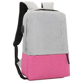 Fashion Small Fresh and Simple Wild Large Capacity Canvas Travel Backpack - PINK