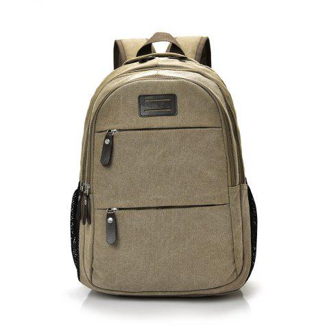 Fashion Wild Large Capacity Simple Male Travel Canvas Shoulder Bag Tide - COOKIE BROWN