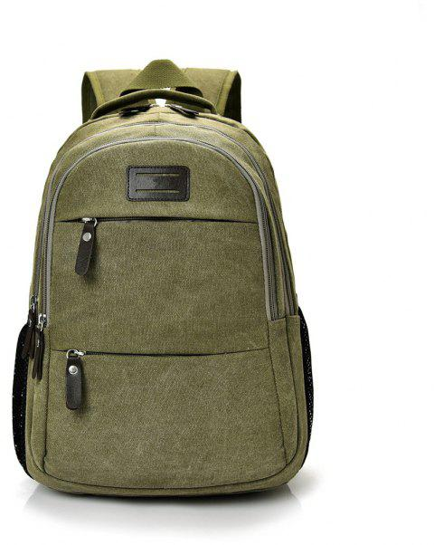 Fashion Wild Large Capacity Simple Male Travel Canvas Shoulder Bag Tide - JUNGLE GREEN