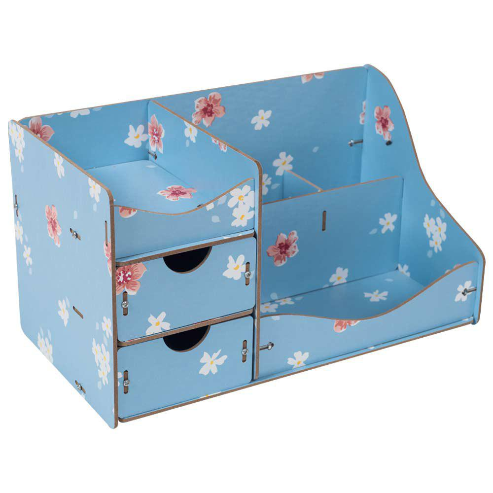 17 Off 2020 Hecare Jewelry Container Home Storage Wooden Box Handmade Diy Assembly Case Organizadores Wood Desk Makeup Organizer New In Blue Dresslily