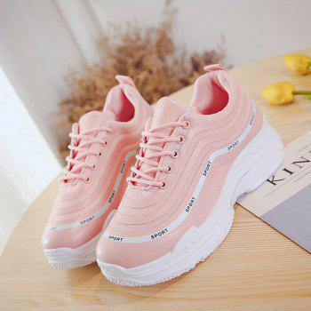 Spring New Flat Fashion Sports Shoes - PINK 37