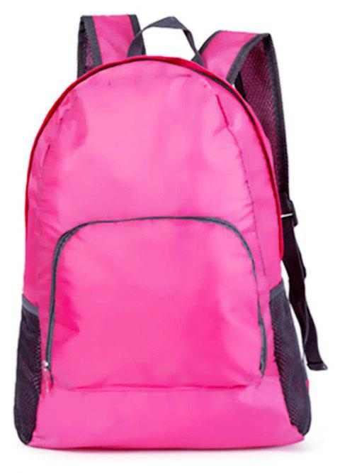 Portable Folding Day Packs Waterproof Backpack Outdoor Travel Hiking Bag -  PINK a993dd704798c