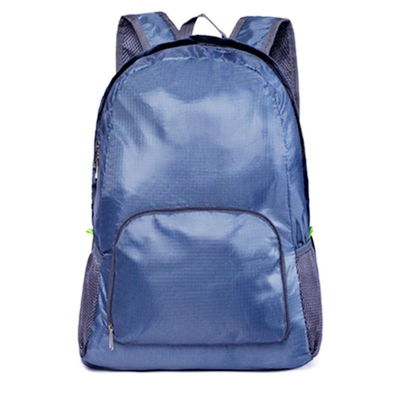 Portable Folding Day Packs Waterproof Backpack Outdoor Travel Hiking Bag - STEEL BLUE