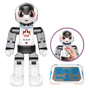 Induction Wireless Remote Control The Palm Voice Intelligent Dancing Interaction Programmable Robot Toys - WHITE