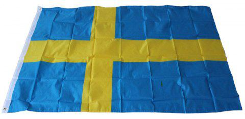 Big Sweden Flag Banner Office / Events / Parades / Holidays / Home Decor - multicolor