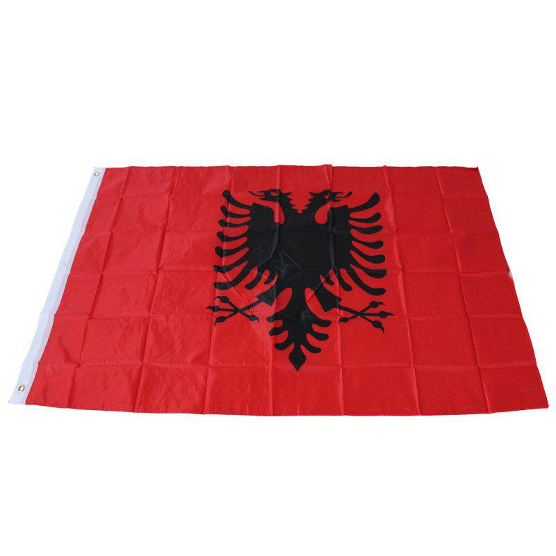 Albania Flag Double Eagle Parade / Festival / Home Decor - RED
