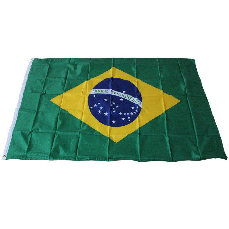 Brazilian Flag Holiday Home Decoration Indoor Outdoor - multicolor