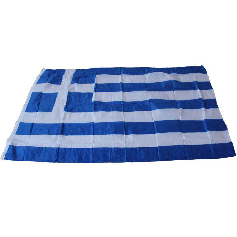 Greece Flag Standard Banner Outdoor Interior Home Decoration - multicolor