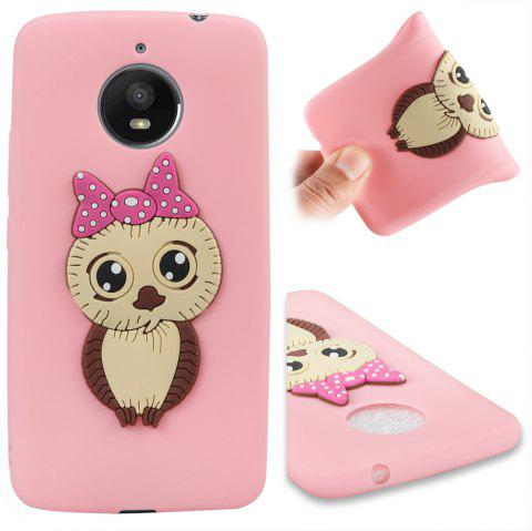 Case for Moto E4 Plus Owl Soft Shell - PINK