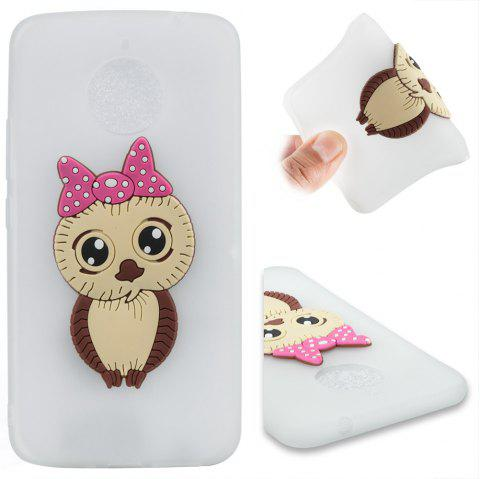 Case for Moto E4 Plus Owl Soft Shell - MILK WHITE