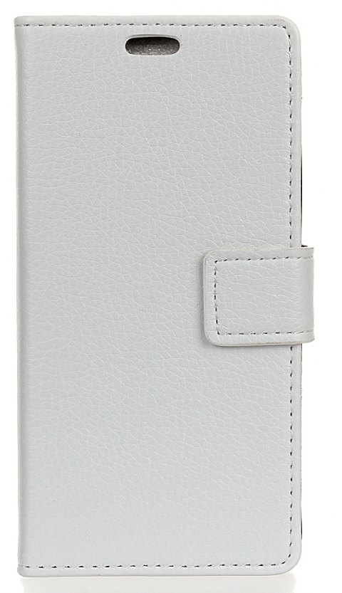 Litchi Pattern PU Leather Wallet Case for Xiaomi Redmi 4X - WHITE