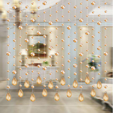 32 Cut Pearl Living Room Partition Porch Crystal Beads Curtain - BRIGHT YELLOW