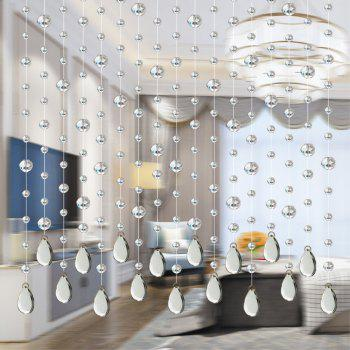32 Cut Pearl Living Room Partition Porch Crystal Beads Curtain - TRANSPARENT