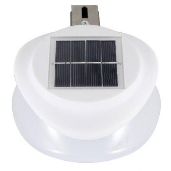 Solar Light-operated Super Bright Wall Mount Outdoor Garden Lamp LED Blub - WARM WHITE