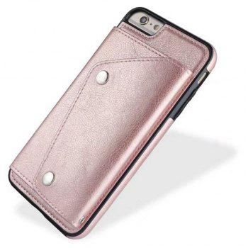 Leather Wallet Case Back Cover with Card Slots and Lanyard for iPhone 7 / 8 - ROSE